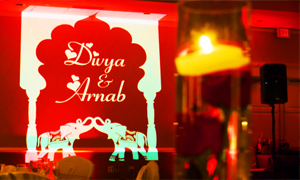 Personalized Gobo Light Indian Wedding