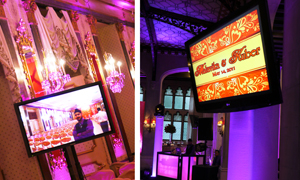 Plasma Screen Setup with a Wedding Slideshow Montage